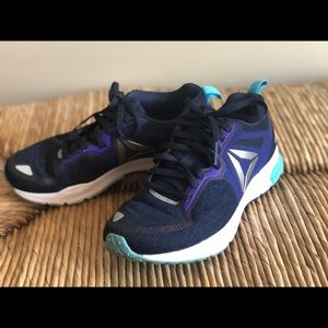 Navy and Purple Sneakers